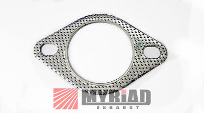 EXHAUST GASKET 2 HOLE BLG45 2 PIN METAL 48.5mm X1 *FREE /& FAST DELIVERY*