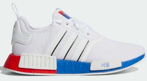 Adidas Originals NMD R1 SEOUL Mens White Boost Running Shoes Black Blue Korea