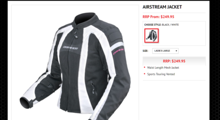 White Motorcycle Jacket DRIRIDER
