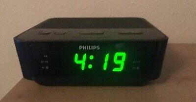 Philips Alarm Clock FM Radio Model AJ3116M/37 Tested Works Great