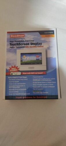 Goodman Programmable Full Color Touchscreen Thermostat GT4273