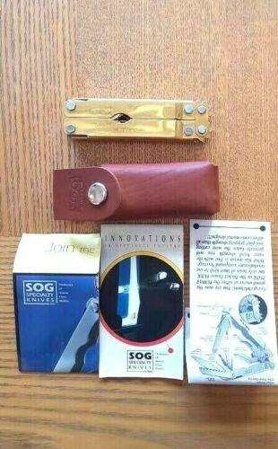 SOG Power Plier Tini Mulitool - Gold  SOGT52 w/leather sheath