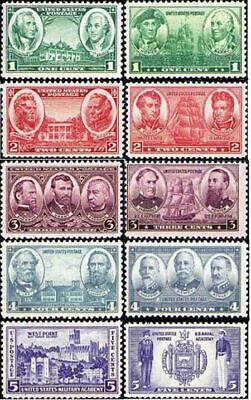 ARMY - NAVY 1936-7 Scott #785 - 794 Mint NH Complete Set of 10 Military Stamps