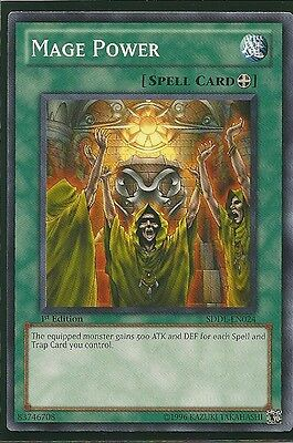 3x Yugioh SDDL-EN024 Mage Power Common Card