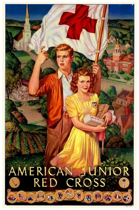 1943 Red Cross WWII American Nurse Wartime Advertisement Poster Print