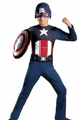 The Avengers Captain America Halloween Costume (LICENSED THE AVENGERS CAPTAIN AMERICA BOYS HALLOWEEN COSTUME CHILD SMALL)