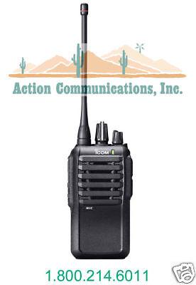 New Icom Ic-f4001-02-dtc Uhf 400-470mhz 4 Watt 16 Channel Two Way Radio