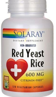 Red Yeast Rice 600 mg By Solaray - 120  Vegetable Caps exp 11/2020 600 Mg 120 Veggie Caps