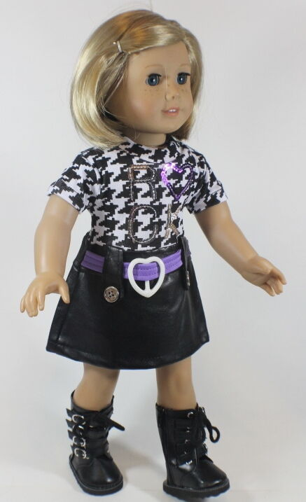 "Lovvbugg Rock n Roll Dress for 18"" American Girl Doll Clothes"