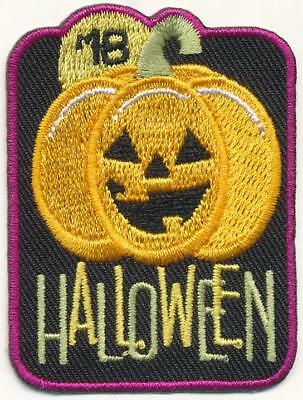 Girl Boy Cub HALLOWEEN '18 2018 Party Cute Patches Crests Badges SCOUTS GUIDES - Girl Scout Halloween Party