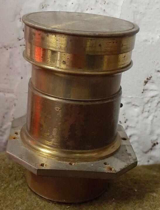 Antique Brass Camera Lens No Markings