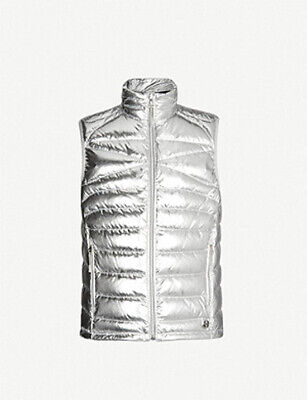 Ralph Lauren Purple Label RLX Silver Foil Quilted Down Ripstop Puffer Vest NWT
