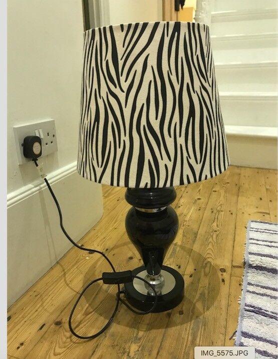 Beautiful zebra black lamp £10 ONO great condition