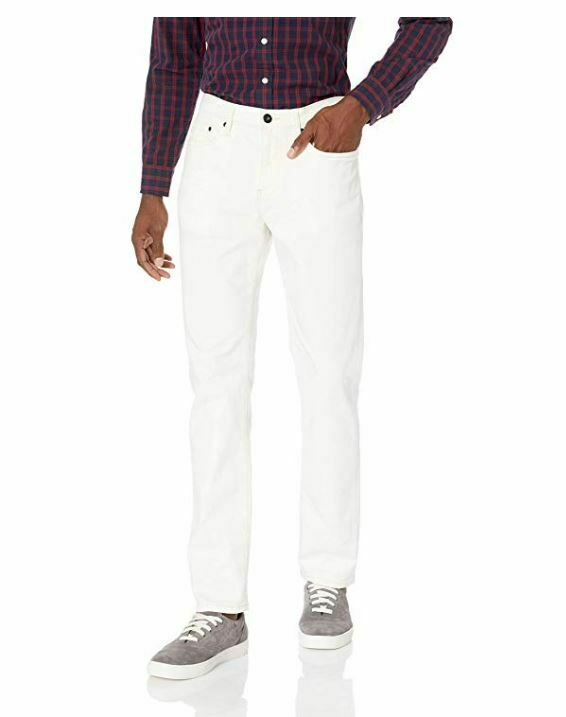NEW Goodthreads Men's Slim-Fit Jeans, Natural White, 33W x 2