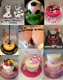 Adult - Teenage - Childrens Birthday Cakes - Novelty - Anniversaries - Weddings - All Occasions