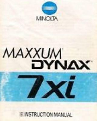 Instructions and guides MINOLTA MAXXUM 7xi