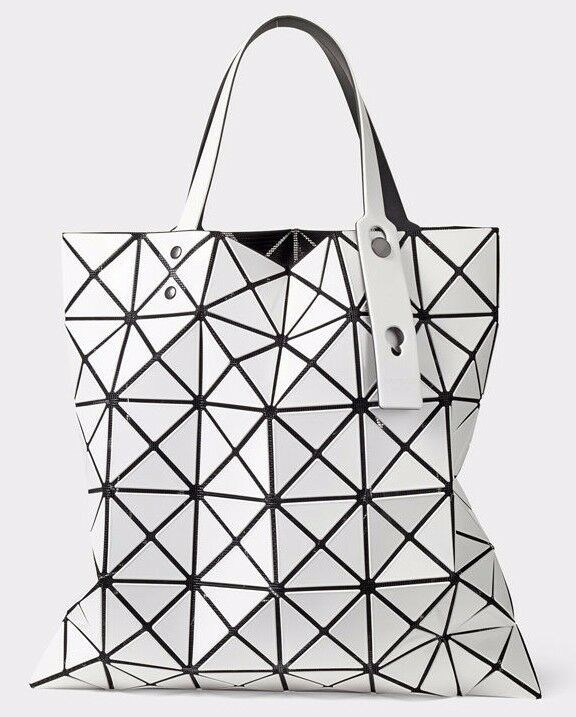 Handbag Folding Matte Tote Shoulder Bag Casual WHITE for wom