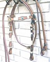 Western Bridle Horse Tack Rawhide+ Silver + Leather Set DEAL $29