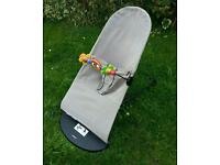 Baby Bjorn babysitter bouncer chair with wooden play toy