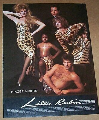 1985 print ad page - Lillie Rubin fashion clothing -Raizee Nights- ADVERTISING