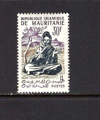 MAURITANIA 1960-62 30fr SEATED DANCE SC 129 MNH