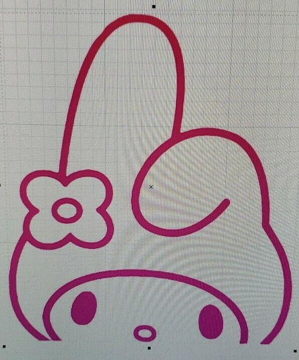 "Sanrio My Melody Vinyl Decal 5"""