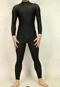 Lycra-spandex-zentai-costume-black-bodysuit-without-head-hands-feet-size-S-XXL
