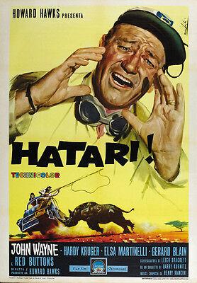 Hatari! (1962) John Wayne movie poster print 2