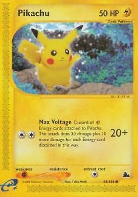 Pikachu - 84/144 - Common NM Skyridge Pokemon