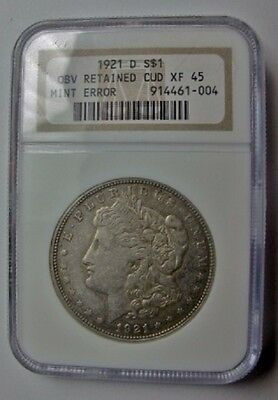 Click now to see the BUY IT NOW Price! 1921 D MORGAN DOLLAR GIANT OBVERSE CUD NEW VAM 1H3 I 4 R 7 NGC XF45 ULTRA