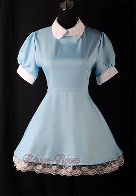 NEW Blue Maid Alice in Wonderland Lolita Outfit Dress Size S-3XL RR 4166_blue (Alice Outfit)