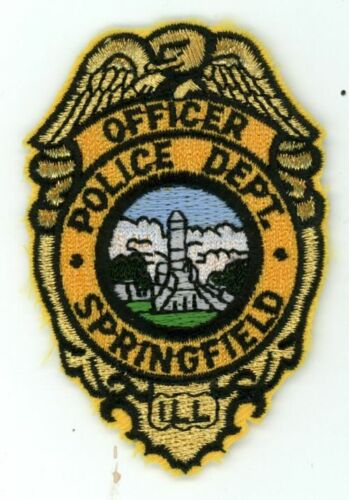 SPRINGFIELD POLICE ILLINOIS IL NICE PATCH JUST UNDER  3 INCHES SHERIFF