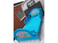 Peppa Pig George Family Childrens Toddler Junior Cot bed, Boys, Blue