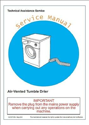 Repair Manual: Asko Washers & Dryers (Choice of 1 manual, Models in description)