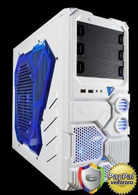 Computer Gaming Case Desktop PC Gamer Mid Tower Window Power Supply Cooler Slots