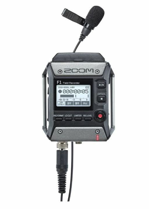 ZOOM F1-LP Field Recorder Clear Portable Mic Tracking Number NEW