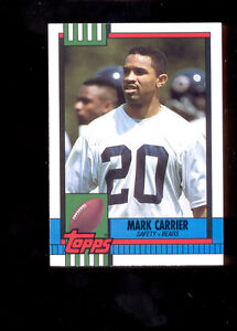 1990-Topps-MARK-CARRIER-Chicago-Bears-Rookie-Update-Card