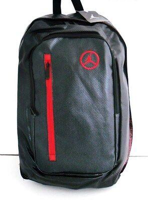 478ab575d3e2 NEW NIKE JORDAN UNISEX BACKPACK BLACK RED 9A1167-023
