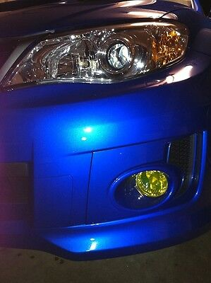 (08-14 Subaru Impreza WRX STi Yellow Fog light JDM TINT PreCut Vinyl Film Overlay)