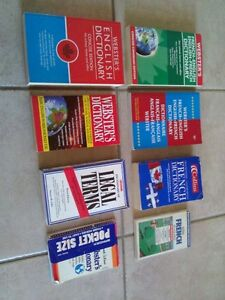 Lots of assorted dictionaries for sale