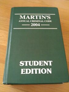 Martin's Annual Criminal Code 2004 Hardcover textbook