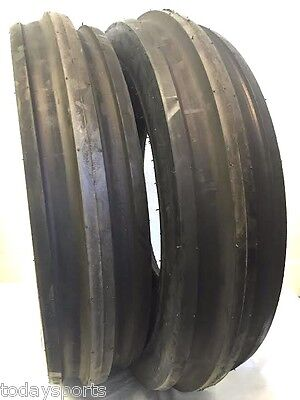 Two New 7.50-16 Tri-rib Front Tractor Tires 8 Ply Rated Load D