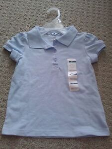 NWT Old Navy girl's baby blue polo uniform shirt size 3T