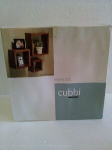 Brand new in box 3 piece set of black wooden cubbies shelves London Ontario image 7