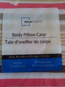 Brand new Mainstays striped long body pillow sham cover London Ontario image 2
