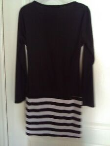 Women's black white striped dress Small New with tags London Ontario image 8