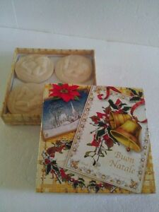 Set of 4 handmade Italian scented soap bars - New in box