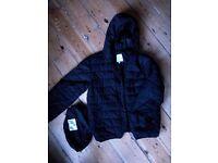 Boys black coat (pack a jacket)