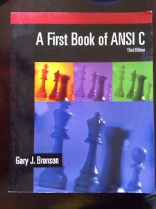 A First book of ANSI C Textbook third edition