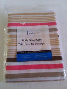 Brand new Mainstays striped long body pillow sham cover London Ontario image 1